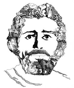 The Face of Jesus Christ Optical Illusion - http://www.moillusions.com/face-jesus-christ-optical-illusion/