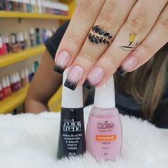 Make an original manicure for Valentine's Day - My Nails Simple Nail Art Designs, Nail Designs, Matte Nails, Acrylic Nails, Posh Nails, Nail Polish Trends, Sparkle Nails, Manicure E Pedicure, Nail Decorations