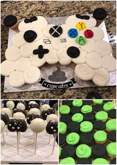 Get your game face on and eat some gamer cake, cupcakes, and cake pops!