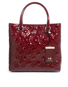 Image 1 ofKM by Karen Millen Small Quilted Tote Bag