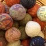 Make Your Own Wool Dryer Balls. I like this one it's simple and talks about using boiling water.