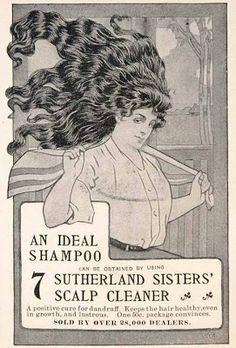 Vintage advertising for the sisters' shampoo