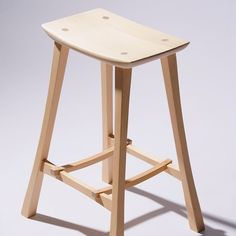 Bar stool. Hoop pine. Inspired by Gary Rogowski's designs. Available in many other species. I have plans for the next iteration of this design that will include a supplementary footrest. Amazing #studiophotography by @namanbriner #damionfauser #studiowoodworker #studiophotography #design #interiordesign #furnitureasart #furnituremaker #furnituredesign #interiordesign #barstool #woodworking #workshop #finewoodwork #hooppine #stool