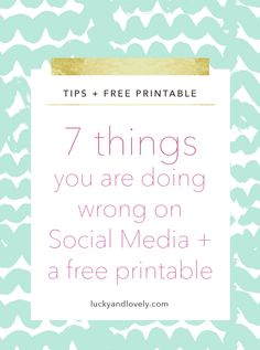 Are you struggling with your social media for your direct sales business? Peep the 7 things you are doing wrong and fix them today to increase engagement and sales.