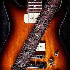 Guitar fender vintage strap leather
