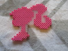 Pattern found online. Made with perler beads.
