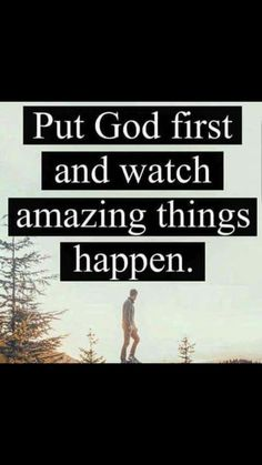 Here's the thing. Don't just say you put him first and then do your own thing. Put him in charge over your entire life and see how He actually solves everything for you one by one, piece by piece. Bible Verses Quotes, Faith Quotes, Life Quotes, Scriptures, Qoutes, Motivational Quotes, Inspirational Quotes, My Salvation, God First