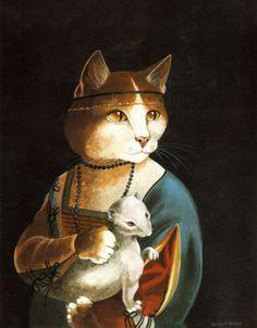 """Lady in the Ermine (Léonard de Vinci)"" par Susan Herbert"