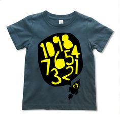 Image of Rocket T-shirt - Yellow on Grey