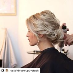 Pretty updo for brides with short hair
