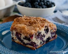 Blueberry Buckle - A Family Feast.   This is an old family recipe passed down through generations.