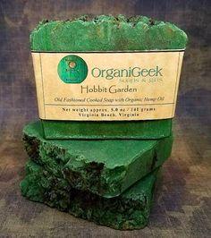 Hobbit Garden Hemp Soap Organic Oils Lord of the Rings