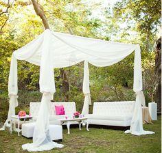 Wedding outdoor seating area