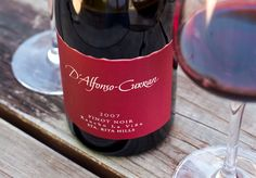 2007 D'Alfonso-Curran Santa Rita Hills Rancho La Vina Vineyard Pinot Noir Sta Rita, Santa Barbara County, Pinot Noir, Wine Recipes, Wines, Red Wine, Vineyard, Alcoholic Drinks, Good Things