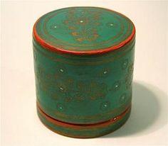 Antique 19th Century Lacquer Burmese Nut Box