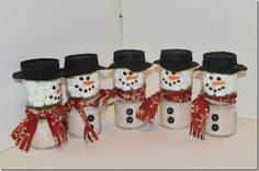 baby food jars cocoa snowman | Hammer & Thread: Pinterest Find: Hot Cocoa Snowman Teacher Gifts