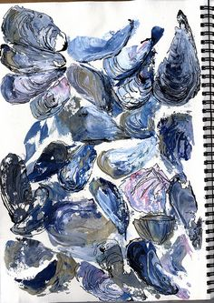 Kunst Bilder ideen - Inspiration for sketch a day challenge day 33 ~ shells Mussel Shells Painting - Beste Art Pins Natural Form Art, Nature Drawing, Nature Artwork, 3d Artwork, Art 3d, Observational Drawing, Painted Shells, Sketchbook Inspiration, Design Inspiration