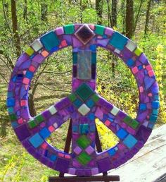 Mosaic Peace Sign Art