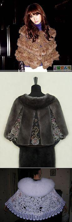 вязаные меховые накидки. Fur Fashion, Hijab Fashion, Womens Fashion, Boucle Yarn, Fur Accessories, Queen Costume, Mode Hijab, Crochet Shawl, Crochet Clothes