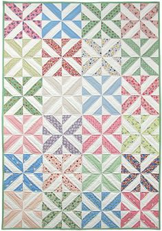 spring showers strip quilt kit, ruler, & free pdf pattern good with fabric collections Cute Quilts, Easy Quilts, Mini Quilts, Quilting Tutorials, Quilting Projects, Quilting Designs, Quilting Ideas, Jelly Roll Quilt Patterns, Quilt Patterns Free