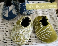 {DIY} Baby shoes- I haved made shoes with this pattern before and it turned out super cute! #diy
