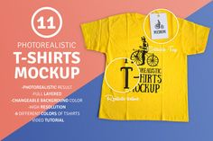 11 Photorealistic T-Shirt Mockup by Antonio Padilla on @creativemarket