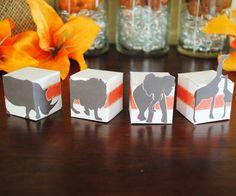 Sophisticated Safari Mini Favor Boxes  Printable by LisaKaydesigns, $10.00