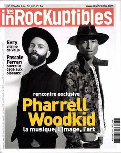 Couverture 966 du magazine LES INROCKUPTIBLES : (Woodkid), Pharrell Williams