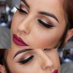 """ wearing @anastasiabeverlyhills 'catnip' liquid lipstick on my lips, @tartecosmetics Tartelette in Bloom eyeshadow palette on my eyes, @benefitcosmetics…"""