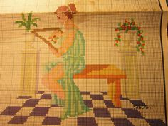 Greek Pattern, Cross Stitch Designs, Projects To Try, Sewing, Antiques, Painting, Patterns, Art, Cross Stitch