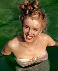 Norma Jeane (Baker) Mortenson (MM) Marilyn Monroe - by Richard Miller (1946) http://dunway.com