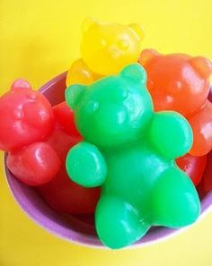gummy bear soap.. Great way to get kids to wash hands