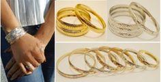 Set of 2 Bangles from India-7 sizes! | toAdorn.com #bangles #bracelets #silver #gold #bronze #toAdorn