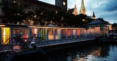 Visit the Barfussbar: during the day a riverside lido for women, in the evening a bar for everyone. Riverside Bar, Church Windows, During The Day, Tourist Information, Public Transport, Old Town, The Locals, Night Life, Floral Wedding