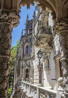 Take a trip to the magical Quinta da Regaleira near the city center of Sintra, Portugal is listed as a World Heritage Site by UNESCO. Sintra Portugal, Visit Portugal, Portugal Travel, Spain And Portugal, Beaux Arts Architecture, Beautiful Architecture, Places Around The World, Travel Around The World, Around The Worlds