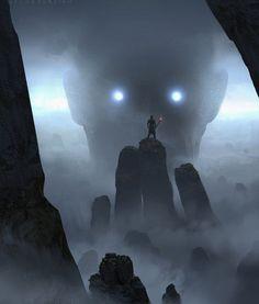 Strange Mountains – fantasy concept by Jacob Duncan