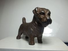 Vintage Solid Metal Dog Paperweight Antique Sealyham Terrier Doggy Animal Figure #Unknown