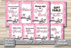 Baby Shower Signs Baby Shower Table Sign by DigitalitemsShop