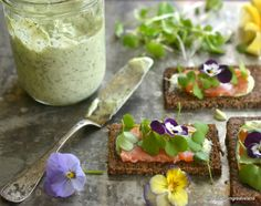 Nordic Open Faced Smoked Salmon Sandwiches - The View from Great Island