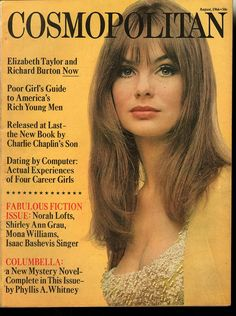 Cosmopolitan magazine, AUGUST 1966 Model: Jean Shrimpton