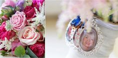 Wedding flowers with photo momento Bridal Bouquets, Wedding Flowers, Table Decorations, Photos, Photography, Fotografie, Pictures, Photograph, Wedding Bouquets