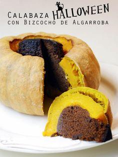 Calabaza Halloween con Bizcocho de Algarroba / Halloween Pumpkin with Carob Cake