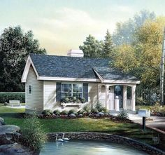 Cabin Colonial Cottage Country Ranch Elevation of Plan 86955