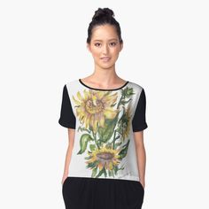 sunflowers in the springtime! Wear the art, why not?