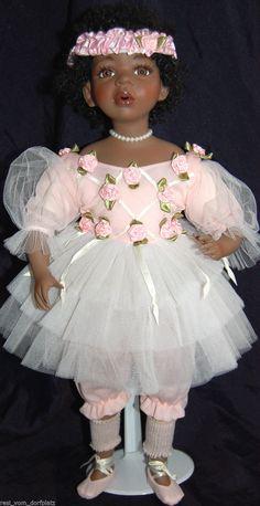 Künstlerpuppe Sammlerpuppe Porzellanpuppe braunes Mädchen Balett int.Nr.746 | eBay