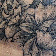 Some details  #sashatattooing #linework #dotwork #tattoo #love #peony #peonytattoo