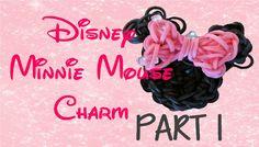 PART 1 Minnie Mouse Rainbow Loom Charm Tutorial - ORIGINAL DESIGN (+play...