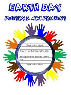 FREE! Students will write Earth Day poems and create a colorful handprint wreath.This 3 page PDF file includes Earth Day poetry patterns, an Earth ... - Re-pinned by @PediaStaff – Please Visit http://ht.ly/63sNt for all our pediatric therapy pins