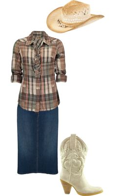 """Modest Cowgirl ;D"" by chattertongirl ❤ liked on Polyvore"