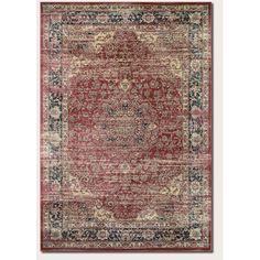 Couristan Zahara Persian Vase Red/Black Area Rug | AllModern